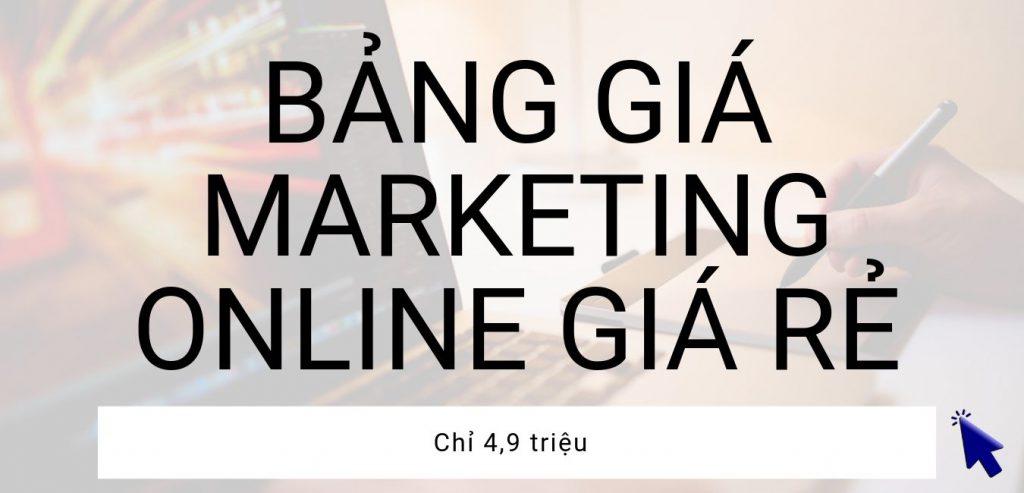Bảng giá dịch vụ marketing online giá rẻ