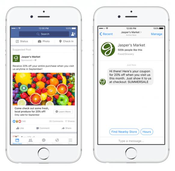 quảng cáo tin nhắn facebook