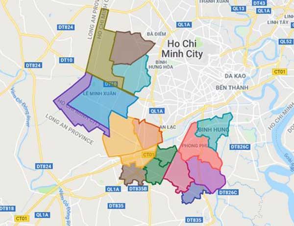 Danh sách chủ đầu tư dự án căn hộ huyện Bình Chánh TPHCM