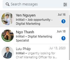 Quảng cáo tin nhắn InMail trên Linkedin